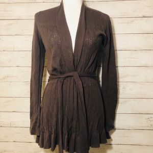 Anthropologie Sparrow sweater duster in brown